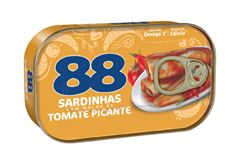SARDINHAS 88 MOLHO TOMATE PICANTE 125G