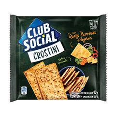 CLUB SOCIAL CROSTINI QUEIJ E VEGET 4X20G