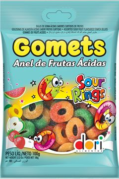GOMETS SM ANEL FRUTAS ACIDAS 100G