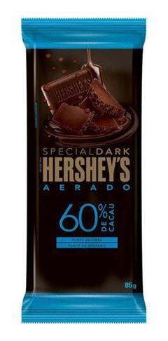 BARRA HERSHEY S  DARK 60% AERADO 85G