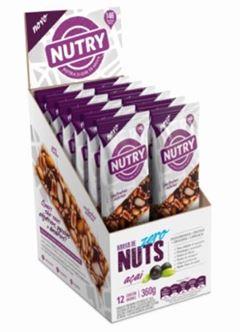BAR NUTRY NUTS ZERO ACAI 12X30G