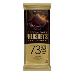 BARRA HERSHEY S  DARK 73% TRAD 85G
