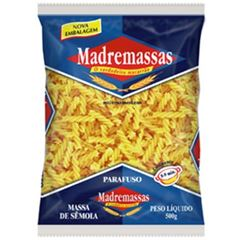 MACARRAO MADREMASSAS SEMOLA PARAFUS 500G