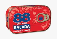 SARDINHAS 88 AO SUCO C MOL D TOMATE 250G
